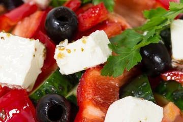 Delicious greek salad.