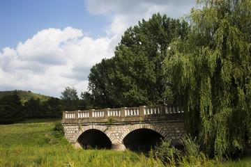 Rural stone bridge.