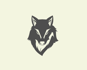 Head wolf logo design inspiration