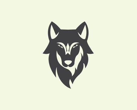 Head wolf logo design inspiration