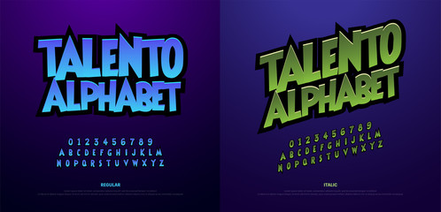 Cartoon Alphabet Scary Typeface. Typography comic style font set for logo, Poster, Invitation. vector illustrator