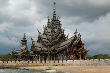 Sanctuary of Truth - wooden temple in Pattaya, Thailand