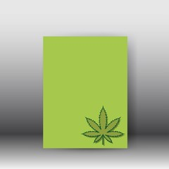 Vector medical cannabis plant, hemp poster