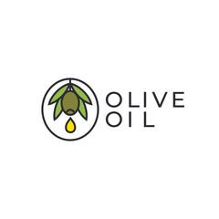 Olive oil icon design.