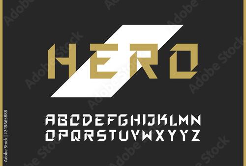 Vector modern bold font  Strong futuristic alphabet