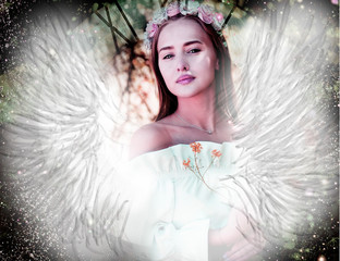 Spring angel, pink fairy of love