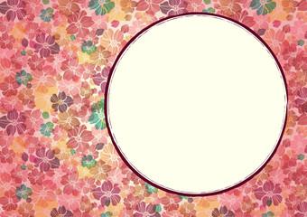 桜 和柄の背景素材