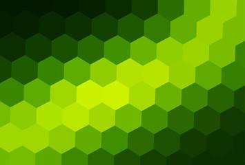 Green mosaic background, interesting hexagonal pattern