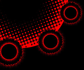 Abstract halftone background, interesting dot pattern abstraction