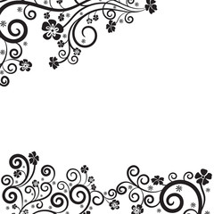Swirls set. Decorative elements for frames. Elegant swirl vector illustration.