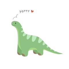 Cute cartoon dinosaur. Vector illustration.