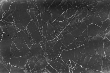 Dark black marble with white abstract texture , natural patterns  for background