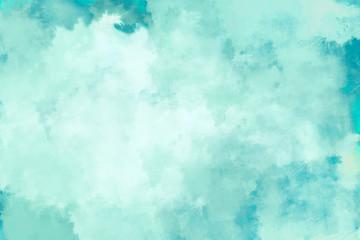Mint/ Türkis Wasserfarben Hintergrund