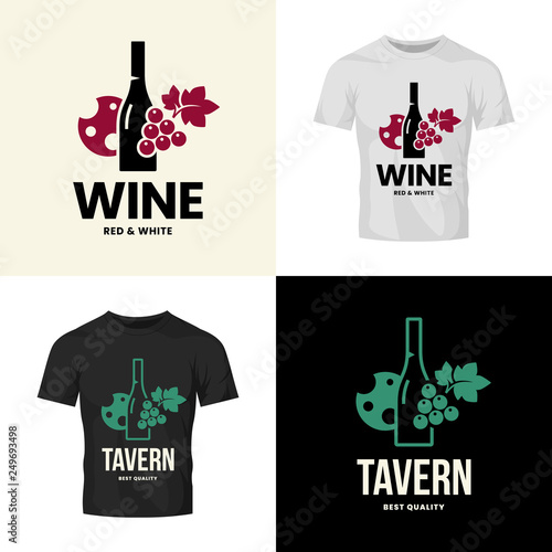 886deadf2 Modern wine vector isolated logo collection for tavern