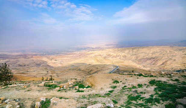 Panoramic view from the mount Nebo