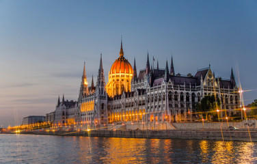 Fotobehang Boedapest Beautiful building of Parliament in Budapest, popular travel destination