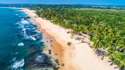 Aerial. Tangalle beach. Sri Lanka.