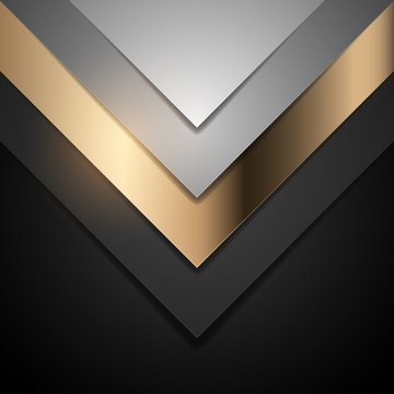 black and gold simple shape background