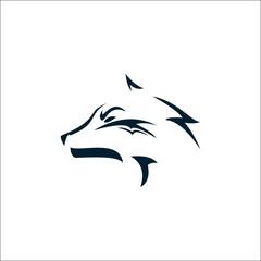 Wolf Simple Logo Design