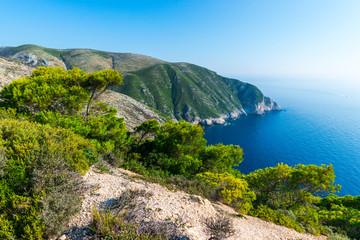 Sea landscape in zakynthos island