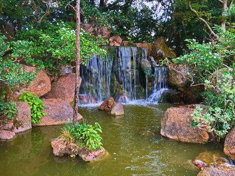 Morikami Japanese Garden waterfall