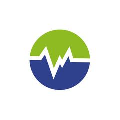 Healthcare and medical logo design vector template