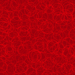 Abstract seamless pattern of randomly arranged contours of circles in red colors
