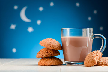 Drinking cocoa at night