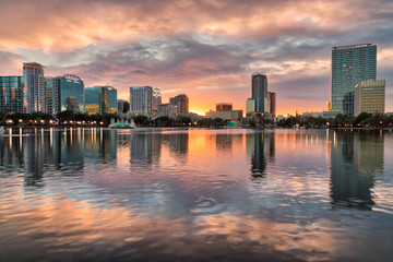 ORLANDO LAKE EOLA SUNSET