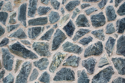Pattern Of Decorative Gray Stone Wall Old Castle Wall Background