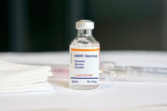 Concept of an MMR vaccine against measles, mumps, and rubella in a vial