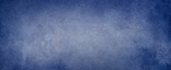 old blue background with distressed vintage texture and dark grunge border