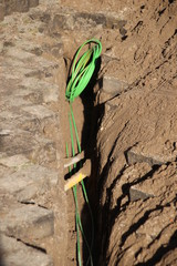 internet and cable coax cables replaced by glass fiber to speed up connection in Gouda the Netherlands
