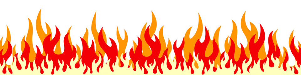 Flame on a white background. Vector illustration for design - for stock