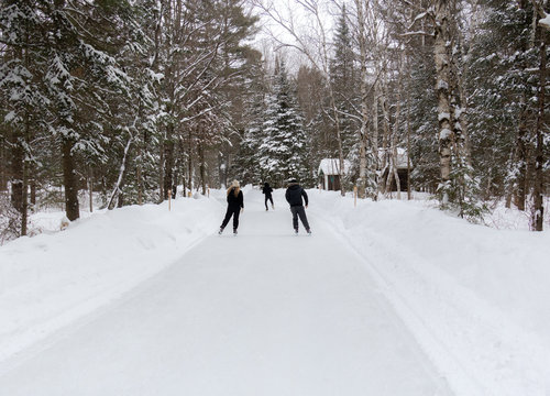3 Skaters on the Trail