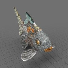 Ancient goldfish statue