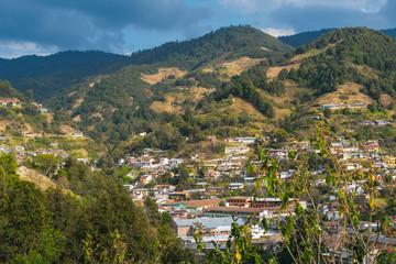 Pueblo en la sierra de Michoacán México