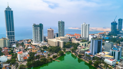 Aerial. Colombo - commercial capital and largest city of Sri Lanka.