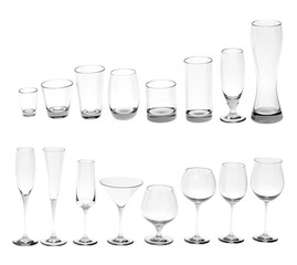 Various red wine glasses