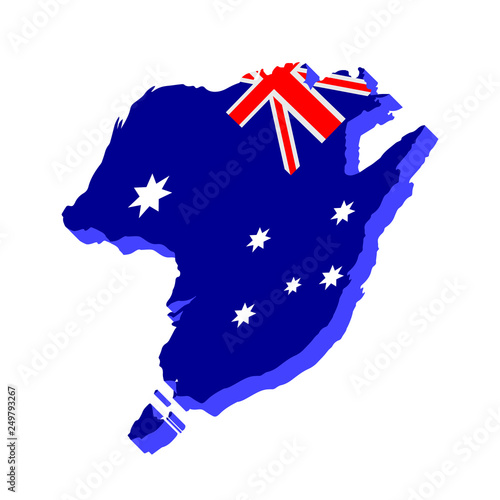 Free 3d Map Of Australia.3d Map Of Australia Vector Illustration Design Stock Image And