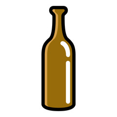Isolated beer bottle icon. Vector illustration design