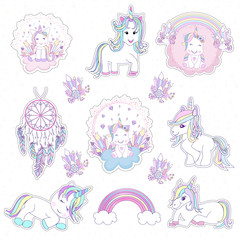 Beautiful unicorn head and inscription be unique with stars illustration  vector.