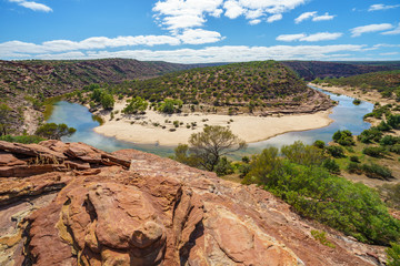 horseshoe bend of murchison river, natures window, kalbarri national park, western australia 10