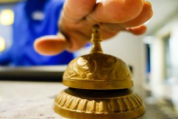 SARASOTA, FLORIDA Bellhop service bell at hotel