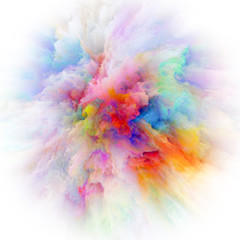 Inner Life of Colorful Paint Splash Explosion