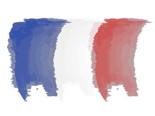 Watercolor flag of France. Vector illustration design