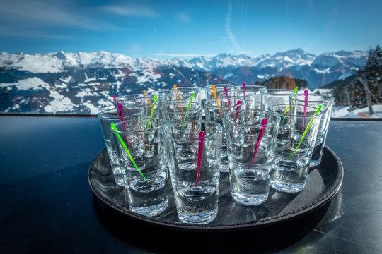Apre ski drinking alcohol