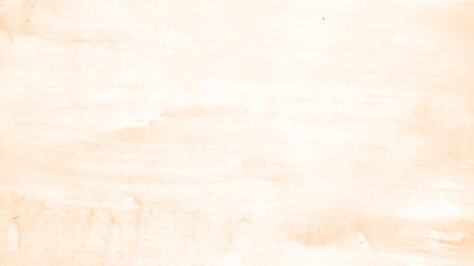 Abstract watercolor background hand-drawn on paper. Volumetric smoke elements. Orange, Turmeric color. For design, web, card, text, decoration, surfaces.