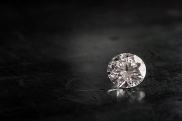 Diamond on Black Wooden Table