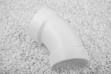 Isolated white PVC fittings on white background, Plumber tube for water isolated on a white background, plastic fittings for water pipeline